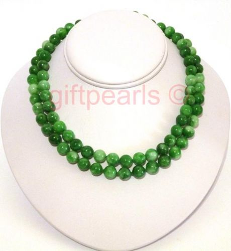 Double-stranded Han jade necklace. OUT OF STOCK